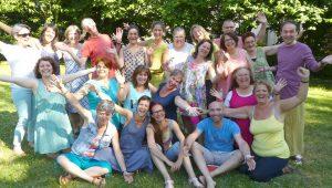 groupe professeur yoga du rire annee 2016